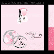 Graphic Wedding Card